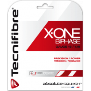 Tecnifibre X-ONE BiPhase 18g / 1.18mm Red Set of String